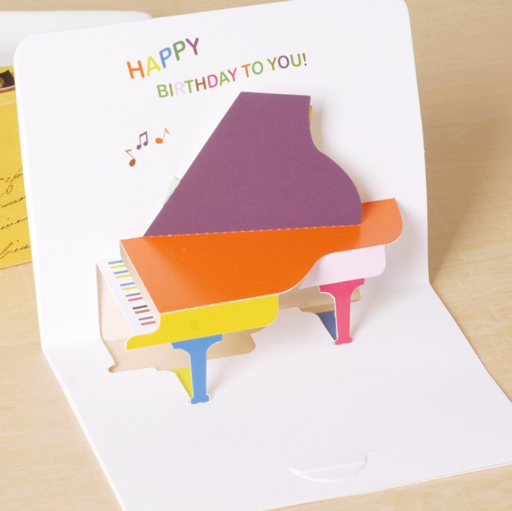 Creative Korean 3D Birthday Greeting Card childrens day general blessing card greeting card