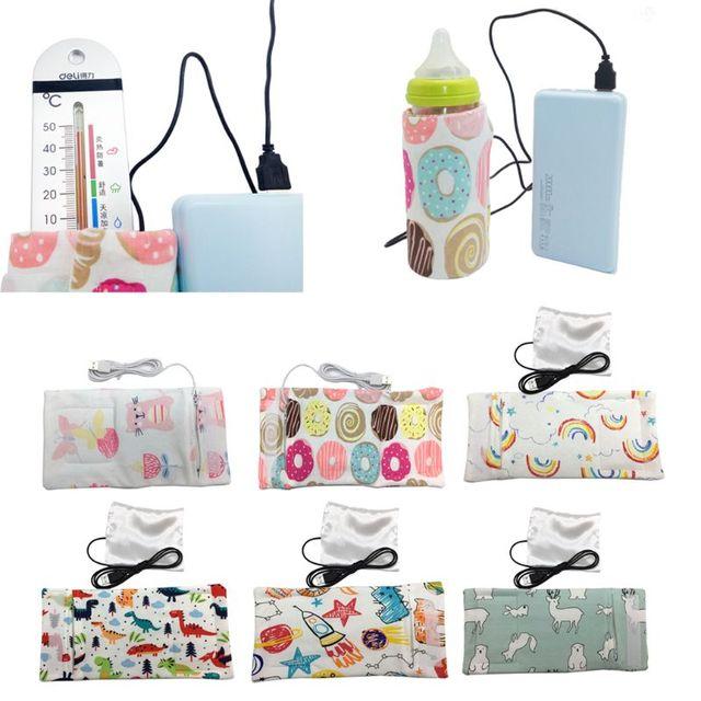 Calentador de agua de leche USB para cochecito de viaje bolsa aislada calentador de biberón para bebé 1
