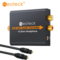 DAC Converter Digital To Analog Analogue Audio Converter Coax Coaxial Optical Toslink RCA R L With
