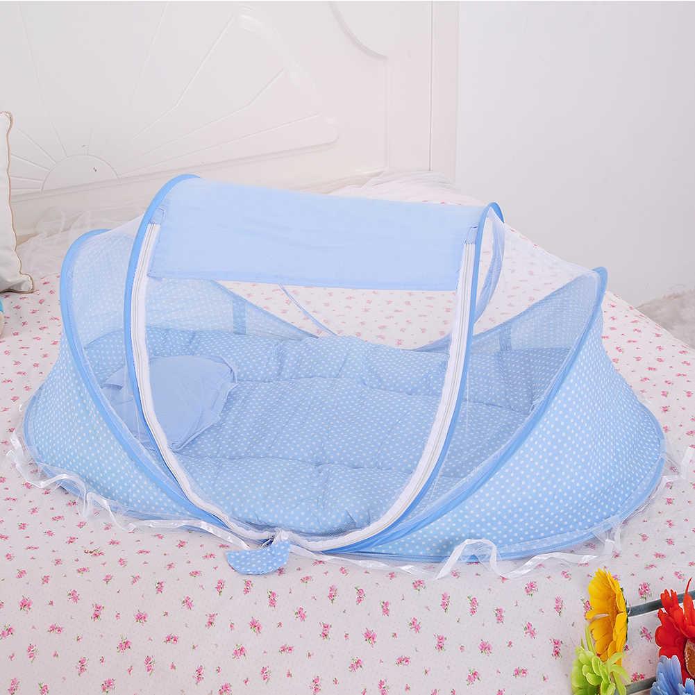 Детское постельное белье кроватки сетки складной детские музыкальные москитные сетки Кровать Матрас Подушка костюм-тройка для 0 до 2 лет дети