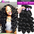 Cheap Malaysian Loose Wave Virgin Hair 3 Bundles 8A Grade Virgin Unprocessed Human Hair Malaysian Loose Curly Virgin Hair  Weave