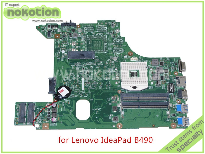 NOKOTION 48.4TD07.01M for lenovo ideapad B490 V480 laptop motherboard HM76 HD4000 graphics DDR3 Mainboard full tested original for lenovo b490 v470 motherboard mainboard 48 4td01 011 100