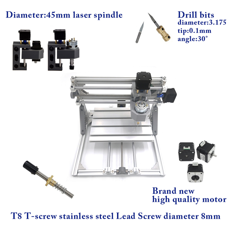 CNC 3018 PRO + 5500mw laser CNC engraving machine Disassembled pack DIY mini cnc router with GRBL controlCNC 3018 PRO + 5500mw laser CNC engraving machine Disassembled pack DIY mini cnc router with GRBL control