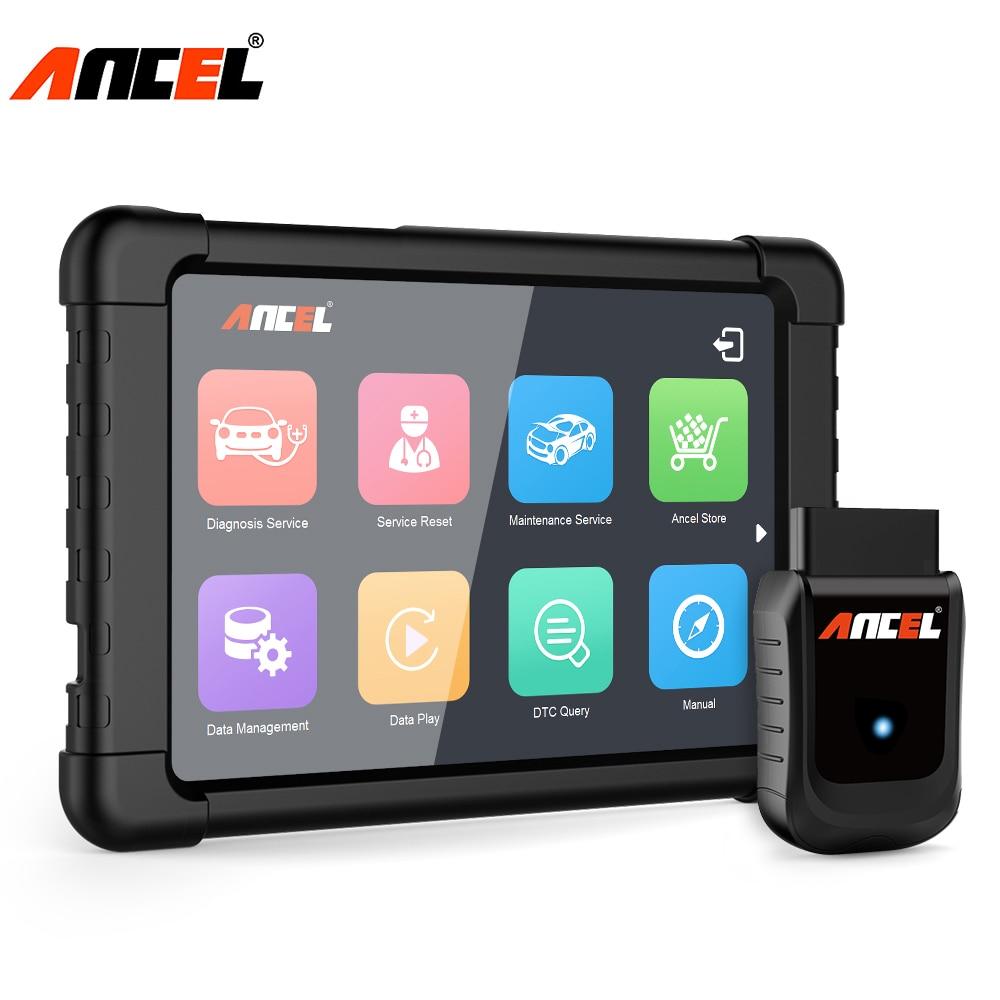 Ancel Completo del Sistema OBD2 WIFI Scanner Finestre Tablet Strumento di Diagnostica Multi Lingue ABS SRS DPF Reset Olio Automotive Scanner