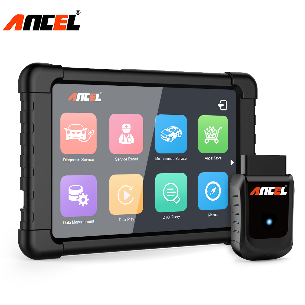 Ancel Plein Système OBD2 WIFI Scanner Windows Tablet Outil De Diagnostic Multi Langues ABS SRS DPF Remise D'huile Automobile Scanner