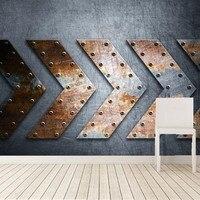 Custom Metal background arrows personality wallpaper papel de parede,bar living room sofa TV wall bedroom wallpaper 3d mural