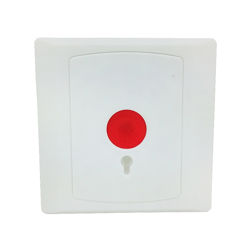 Auto Reset NC/NO Options Panic Button Plastic Switch For Alarm System Fire Retardant Shell Emergency Swtich
