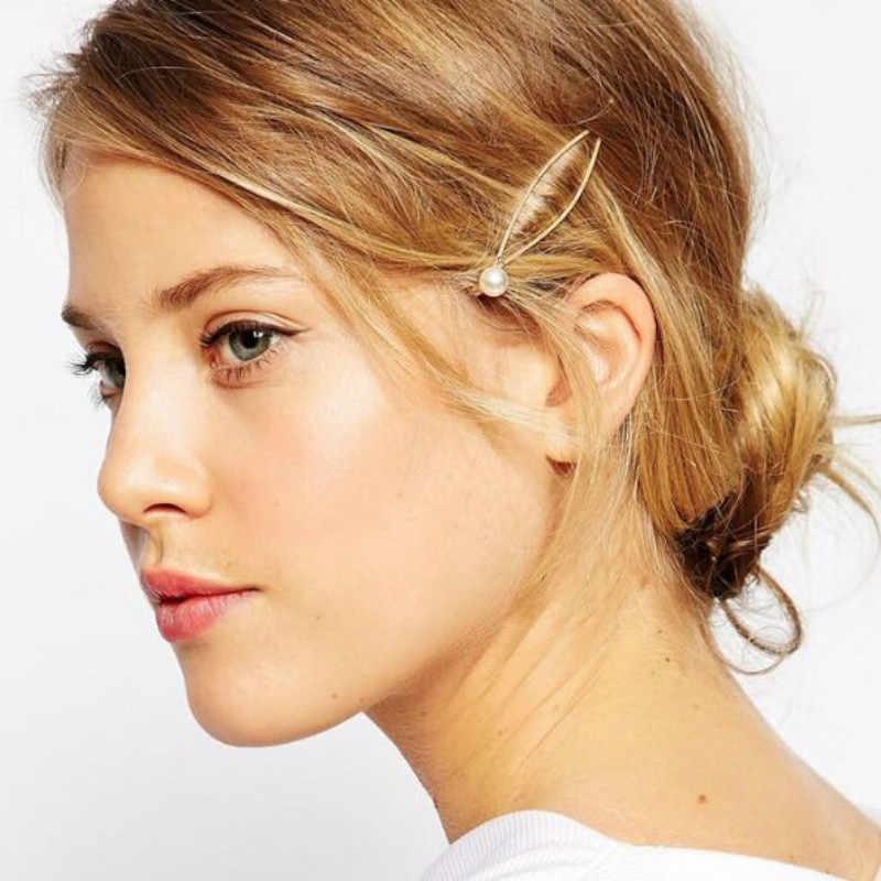 Gros Clip fille Bijoux diadème mariée Hairgrips Imitation perle bandeaux pour femmes de mariage cheveux Bijoux accessoires