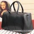 2017 Nuevos Mens de cuero de viaje bolsa de moda de las mujeres de equipaje bolsas de viaje bolsos de noche las mujeres de la vendimia bolsa de viaje weekender TB00014
