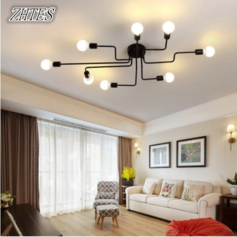 American Iron Lamps Study Creative Personality Pendant Lamp Nordic Simple Bedroom Lamp Living Room Lamp