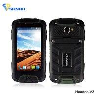 オリジナルhuadoo v3 ip68 4.0のandroid 4.4 mtk6582 1.3 ghzクアッドコア防水電話1ギガバイトram 8ギガバイトrom wcdma 854 × 480 8mp gpsデュアルsim