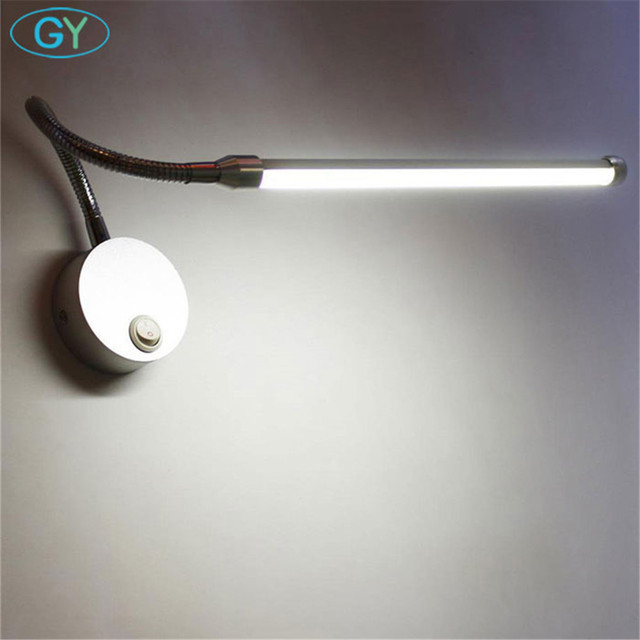 Modern 5w 9w led reading lamp wall mount study lights plug bedside modern 5w 9w led reading lamp wall mount study lights plug bedside bedroom led bathroom mirror aloadofball Gallery