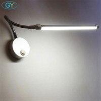 Modern 5W 9W LED Reading Lamp Wall Mount Study Lights Plug Bedside Bedroom LED Bathroom Mirror