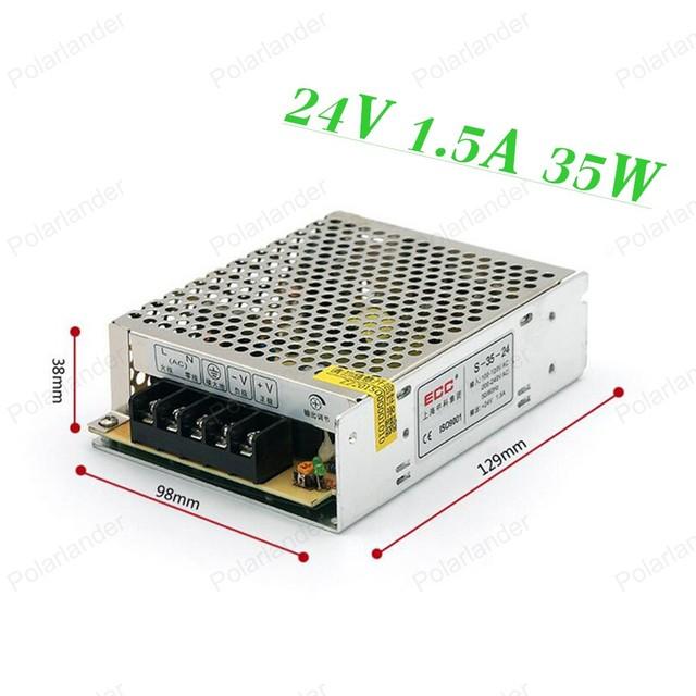 Alta Calidad 24 V 1.5A 35 W Interruptor de fuente de Alimentación de Conmutación para la cámara de CCTV para el Sistema de Seguridad