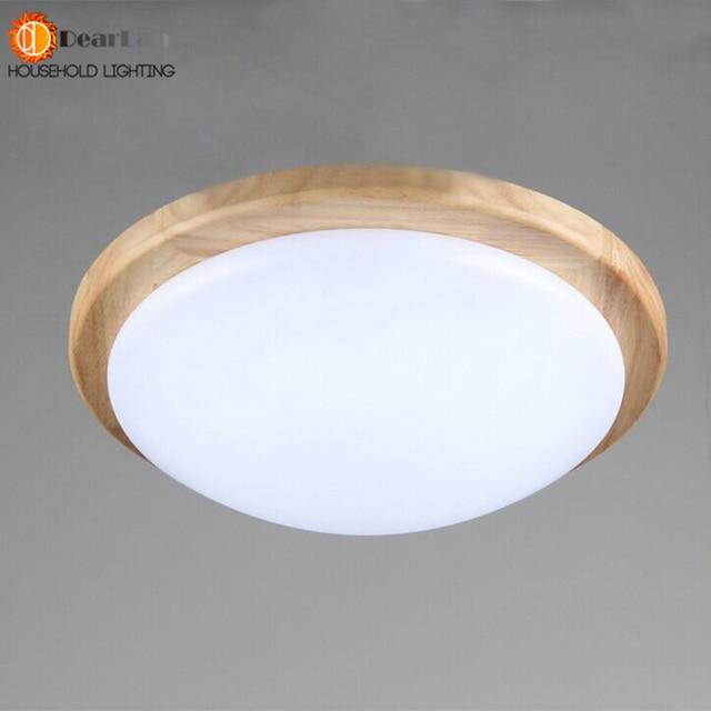 Aliexpress.com: Acheter Moderne LED Plafond En Bois lampe Jardin ...