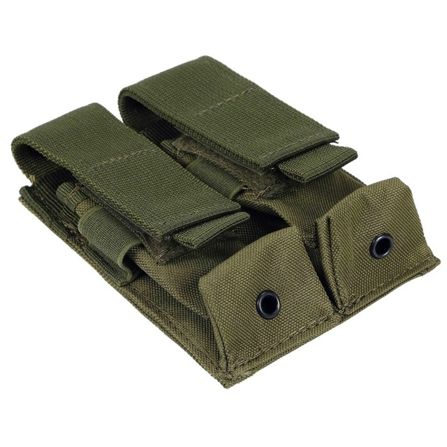CQC Molle System Tactical Pistol Double Magazine Pouch Molle Clip 9MM Military Airsoft Mag Holder Bag Hunting Accessories 4
