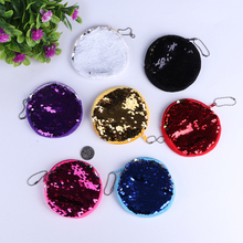 Sequins Shell Cosmetic Bag Shiny Travel Cosmetic Case Makeup Pouch Purse Fashion storage bag Wallet