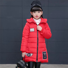 Girl Thick Outerwear & Coat Spring Winter Jacket for Girl Clothes Cotton Padded Hooded Kids Coat Children Clothing Enfant Parkas цена и фото