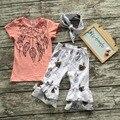 Verano de los bebés trajes niñas ropa niños conjuntos boutique de dream catcher con diadema a juego