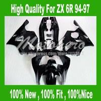 94 97 Siyah fairing KAWASAKI NINJA ZX 6R 636 94 97 95 96 ZX-6R ZX6R 94 95 96 97 ZX 6R 1994 1995 1996 1997 Fairing Kitleri # O