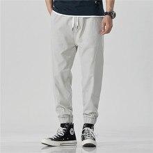 Giapponese pantaloni casual dritto-barile di sport allentati pantaloni con le gambe Harun pantaloni primavera e l'estate di modo gli studenti