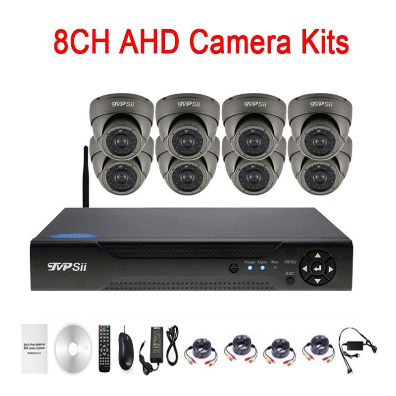 24 pcs Infrarouge Led 5mp/4mp/2mp/1mp Étanche 8CH 8 Channel Outdoor WIFI Dôme AHD CCTV caméra de Surveillance Kits Livraison Gratuite