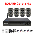 24 piezas Leds infrarrojos 5mp/4mp/2mp/1mp impermeable 8CH 8 canal al aire libre WIFI CCTV de la bóveda AHD cámara de vigilancia Kits envío gratis