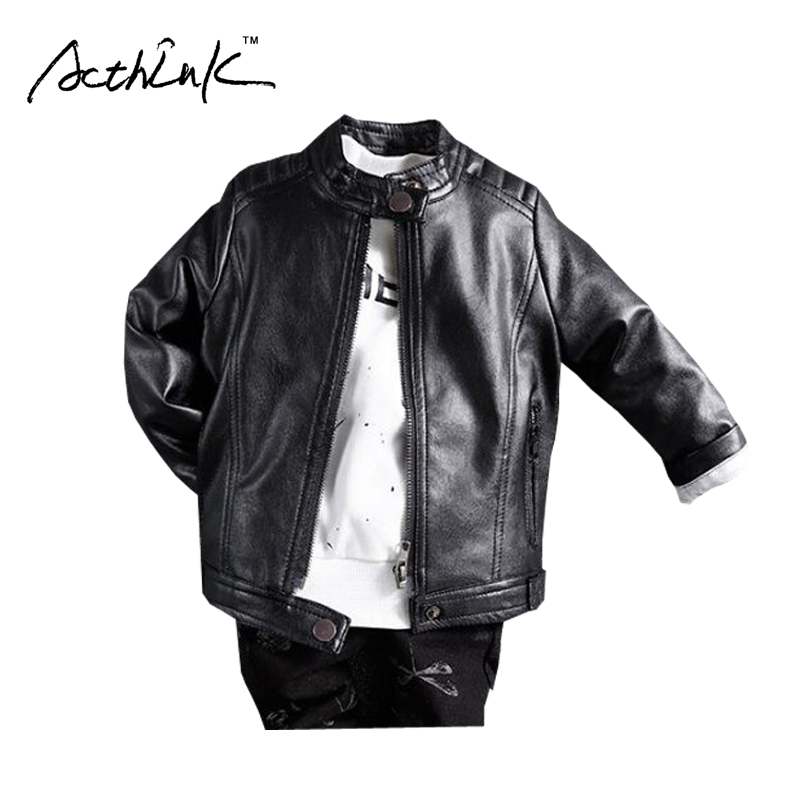 ActhInK New Children Motorcycle Leather Jacket for Boys Autumn Baby Kids Casual PU Jacket Boys Fashion Car Racing Outwear,ZC038 2016 new arrival fashion kids shoes pu leather children shoes for boys