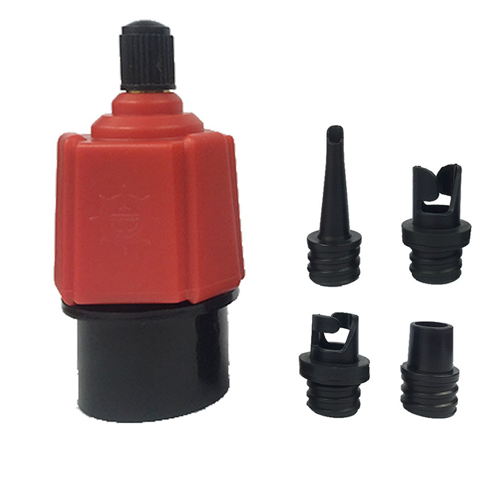 Assault Boat Inflatable Durable Nylon Surf Paddle Rubber Boat Multifunctional Air Nozzle Kayak Pump Canoe Clique Adapter Set