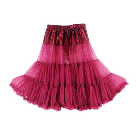 Евро ЗО, проверка, Нижняя юбка для женщин, шифоновая юбка-американка, юбка-пачка для взрослых, бальное платье, для танцев, летняя, 65 см, длинная юбка, сексуальная, однослойная - Цвет: wine