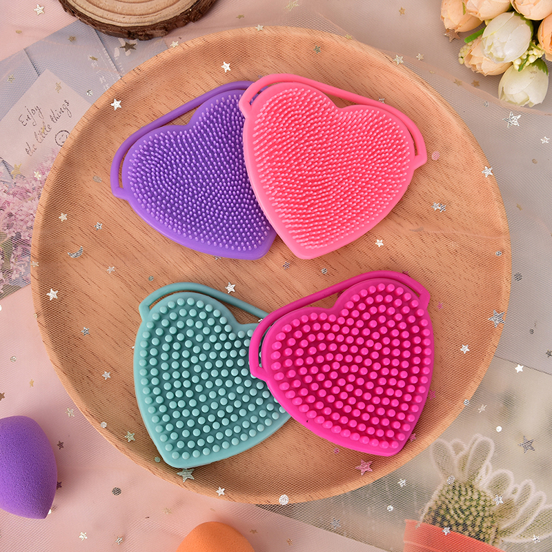Popular Brand 1 Pcs Soft Silicone Heart Facial Cleansing Brush Face Washing Exfoliating Blackhead Brush Remover Skin Spa Scrub Pad Tool Beauty & Health