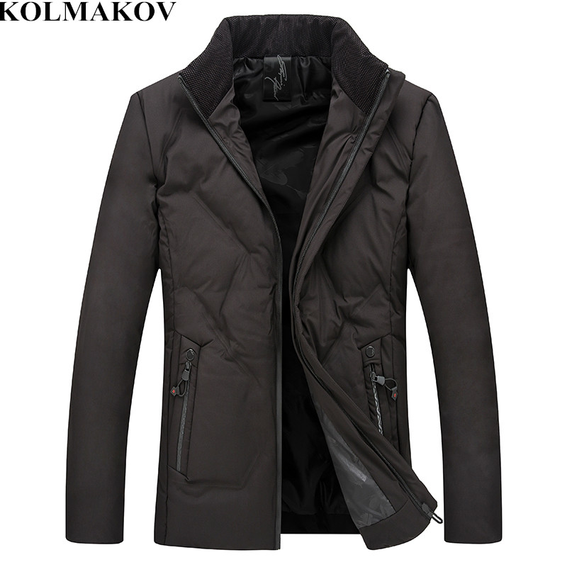 KOLMAKOV Men's Clothing 2018 New Winter Mens Smart Casual Parkas Homme High Quality Jackets Male Classic Short Coats Men XL-5XL