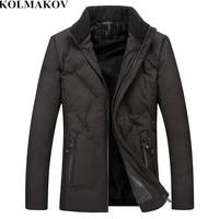 KOLMAKOV Men's Clothing 2018 New Winter Mens Smart Casual Parkas Homme High Quality Jackets Male Classic Short Coats Men XL 5XL