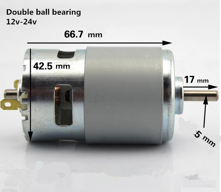 775 Hight Quality 12v-24v Metal DC-motor Double Ball Journal Bearing High Speed Large Torque DC Motor For Diy Bench Saw Motor 545 large torque dc 3 24v motor low noise motor wind turbines micro motor diy motor for diy toy accessories