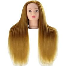 24 Yaki Synthetic Fiber Hair Mannequin Head Hairdressing Cutting Braiding Practice Edit Dummy Training Salon