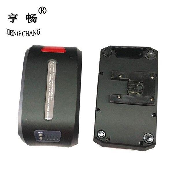 36v battery case folding bikes lithium battery storage box haibao bike battery case with Power display lamp Rear light