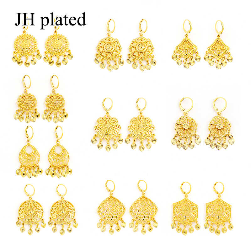 JHplated Africa Earrings for Women/Girl Arab Ethiopian Jewelry Gifts wedding Bride party earrings Middle East