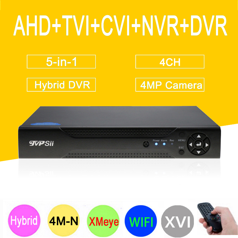 4MP Камеры Скрытого видеонаблюдения Dahua Панель Hi3520D xmeye 4M-N 4CH 4 канала 6 в 1 Гибридный XVI CVI TVI NVR AHD CCTV DVR Бесплатная доставка