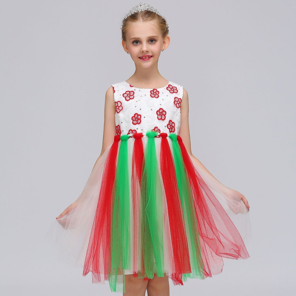 High Quality 2018 Princess Style   Dress   For First Communion Colorful Tulle Cheap   Flower     Girl     Dresses   for Weddings