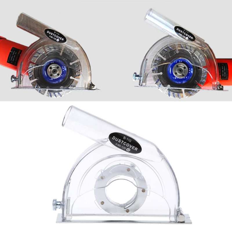 """Clear Cutting Dust Shroud Grinding Cover For Angle Grinder & 3""""/4""""/5"""" Saw Blades