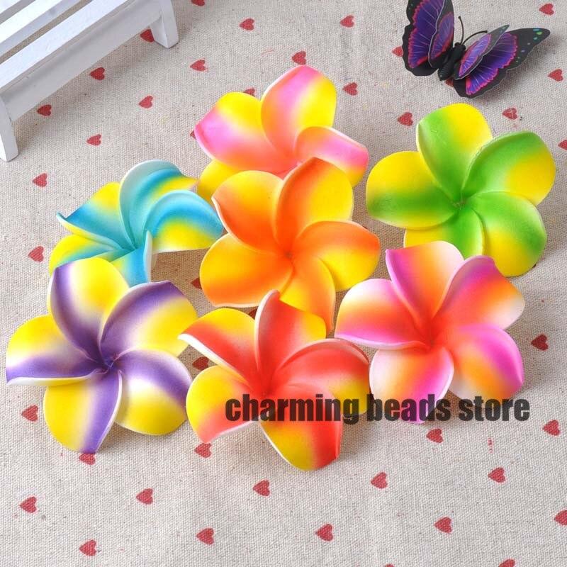 30Pcs Plumeria Hawaiian Foam Frangipani Artificial Flower For Wedding Party Decoration 7cm CP0312