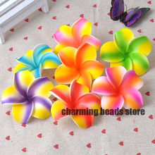 30 pçs plumeria hawaiian espuma frangipani flor artificial para decoração de festa de casamento 7cm cp0312
