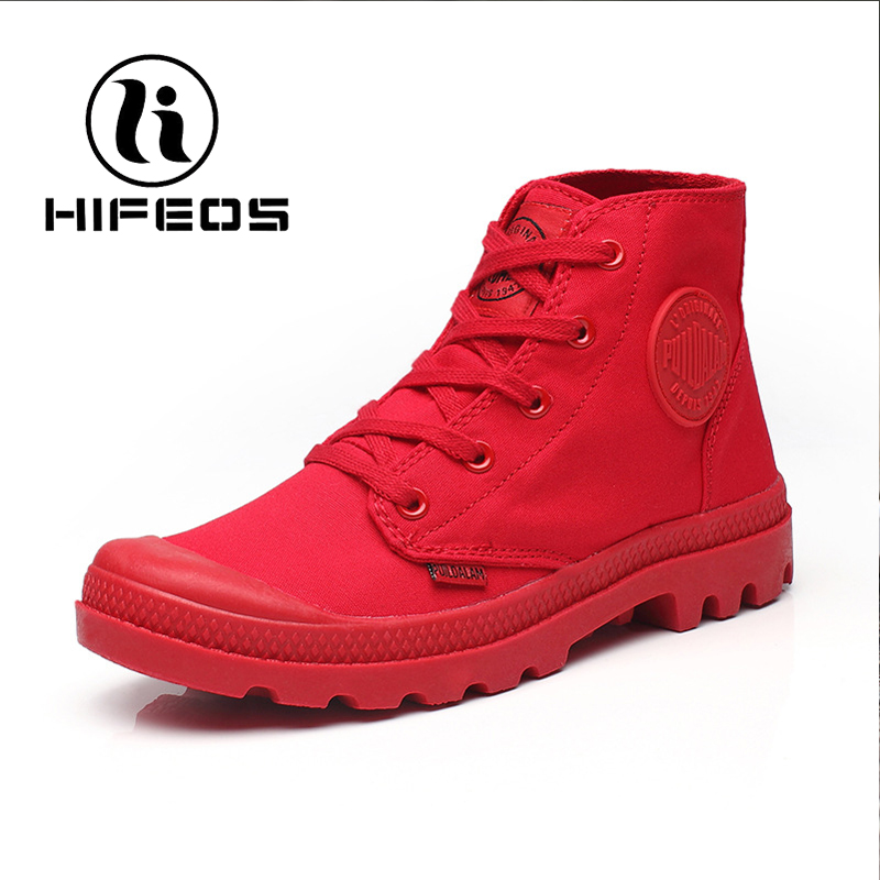 HIFEOS sneaker for women hiking shoes outdoor high-top martin boots martin female wear-resistant anti-slip canvas canvas M091 yin qi shi man winter outdoor shoes hiking camping trip high top hiking boots cow leather durable female plush warm outdoor boot