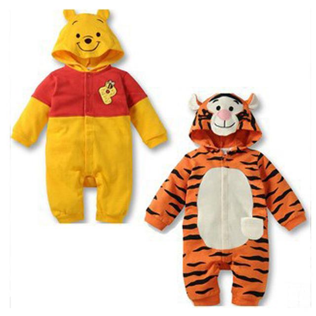Mameluco Del bebé Nuevo Bebé niñas de Manga Larga Ropa Subir kids ropa de la historieta del mono ropa del bebé Cuerpo Trajes Casuales