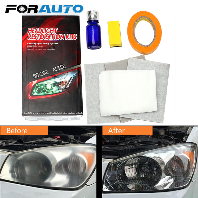 Car Care Headlamp Polishing Restores Clarity Diy Uv Protective