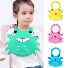 Cute Cartoon Crab Waterproof Baby Bib Washable Silicone Infants Toddlers Apron hot