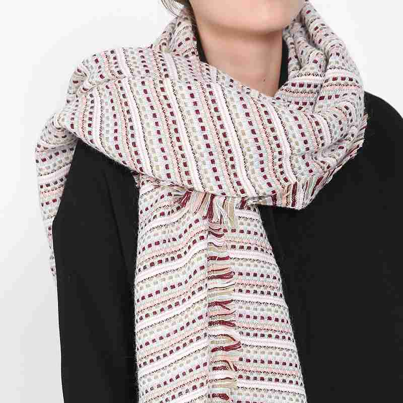 Za New Brand Winter Foulard Femme Striped Dots Shawls And Scarves Wrap Women font b Tartan