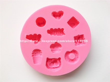 New! Free Shipping Cupcake Shaped Silicone Mold Cake Decoration Fondant Cake 3D Mold Food Grade Silicone Mould 243(China)