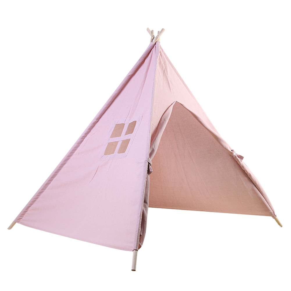 1 Pcs Children Kids Play Tent Teepee Solid Color Durable 160cm for Home Indoor AN88