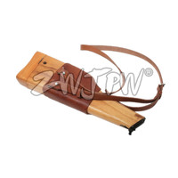 WW2 Army Mauser C96 Wooden Holster With Leather Strap Hunting Holster CN.DE/103112